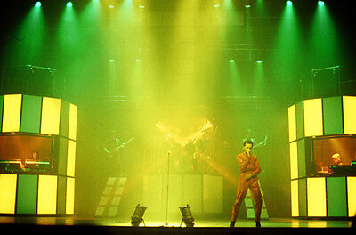 """12""""*8"""" concert photo of Gary Numan playing at Hammersmith in 1980"""