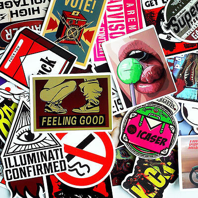 30 Pieces Car Skateboard Snowboard Motorcycle Bike Laptop Sticker Wall Accessory
