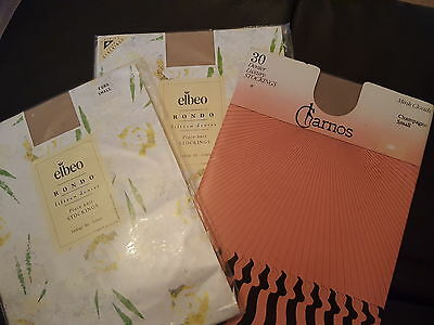 Vintage Stockings 3 New Pairs Small Charnos/Elbeo