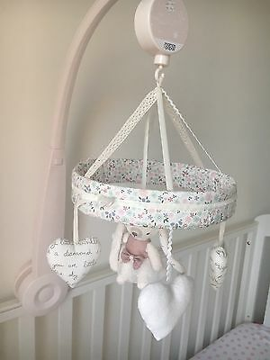 Mamas And Papas Millie And Boris Pink Cot Mobile