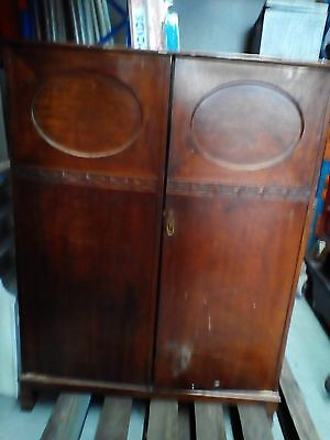 Antique solid timber  wardrobe