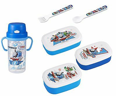 Thomas Lunch Products - 3 Lunch (Bento) Boxes, Thermos & Straw, Spoon and Fork