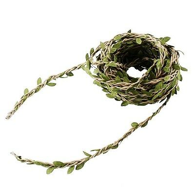 2 mtrs Nature Green Artificial Vine Foliage Leaf Leaves Garland Plant #651