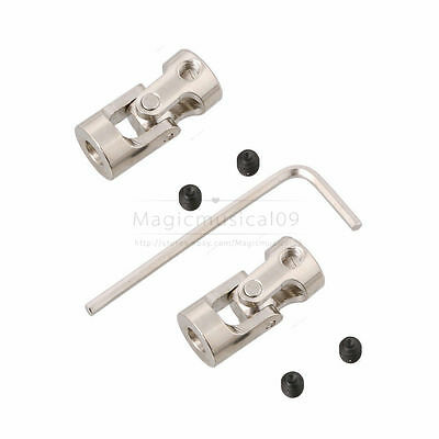 2pcs Model Car Shaft Coupling Motor Connector Alloy Universal Joint
