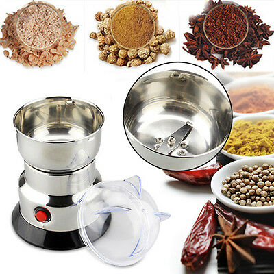220V Electric Herbs/Spices/Nuts/Grains/Coffee Bean Grinder Mill Grinding DIY