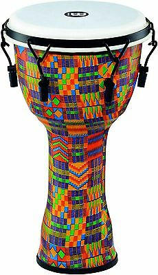 Meinl Mechanically Tuned Djembe Synthetic Shell and Head 10 in. Kenyan Quilt