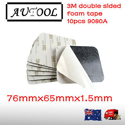 10pcs 9080A 3M Double Sided Adhesive foam tape sticky pads black 76mmx65mm×1.5mm