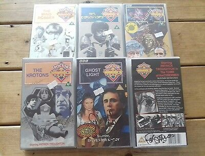 Dr Doctor Who Job Lot Of Signed Vhs