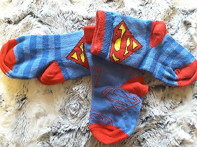 Superman Baby Boy Socks NEW 3 Prs 0-2.5 Superheroes