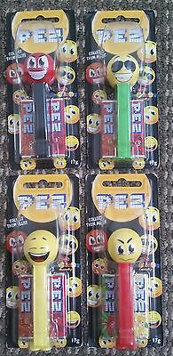 4 x sealed EMOTICON PEZ Candy MOC Australia Only Release Rare!