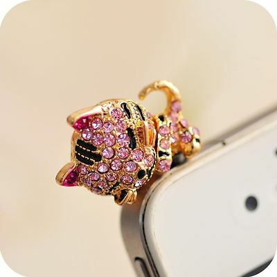 Sleeping-Cat Anti Dust Plug Cover Charm for iPhone Android 3.5mm