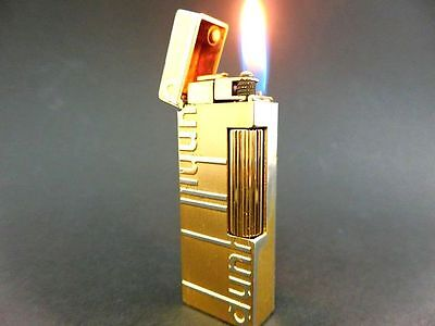 """ALFRED DUNHILL"""" GOLD DUNHILL-Design Rollagas Lighter VINTAGE SWISS"""