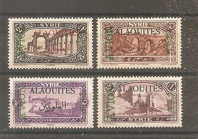 Timbre Alaouites Syrie Frankreich Kolonie 1925 Pa N°5/8 Neuf* Mh