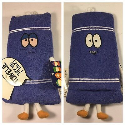 2002 SOUTH PARK TALKING TOWELIE PLUSH Talking TOY DOLL FIGURE WITH TAGS Comedy