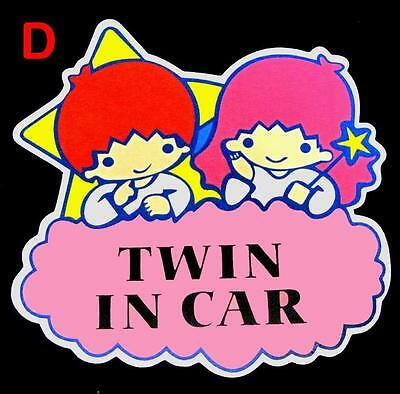 HI-VIS Reflect Baby in Car Twin On Board Safety Warning Sign Decal Car Sticker