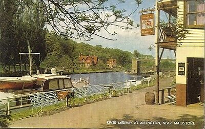 River Medway at Allington, near Maidstone. 1960s