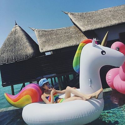 Summer Inflatable Unicorn Pool Float Giant Raft Swimming Beach Water Sports Toy
