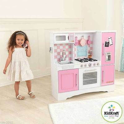 Kidkraft Culinary Wooden Play Kitchen Pink Pastel Kids Childs Girls Toy *new*