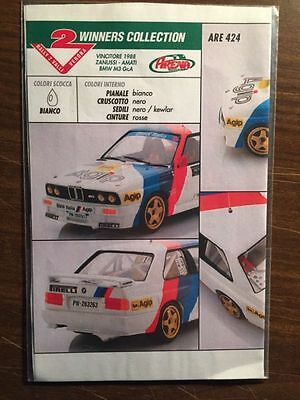 Decal 1:43 ARE424 BMW M3 Gr.A Winner Rally 2 Valli 1988 Zanussi-Amati