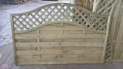 Omega Wave Curved Lattice Top - Berlin Panel - Pressure Treated - 1200mm - 4ft