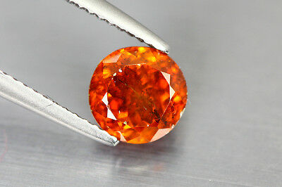 2.395 Cts AMAZING LUSTROUS NATURAL RARE UNHEATED HOT ORANGE RED SPHALERITE GEM!!