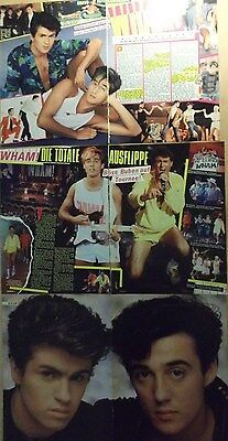 6 german clipping WHAM GEORGE MICHAEL LIVE BOY ROCK BAND BOYS GROUP GAY INT. RIP