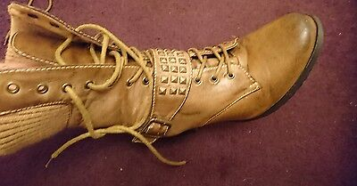 Ladies Fiore Brown/Tan Boots Size 6