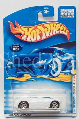 Hot Wheels 2001 First Editions Cunningham C4R 31/36 051 WHITE Convertible 1:64 S