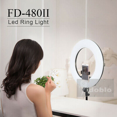 96W FD-480II Bicolor 480 LEDs Ring Light 5500K Photography Dimmable Makeup Lamp