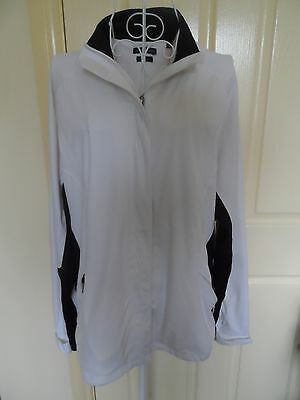 Sporte Leisure White/black Wet Weather Jacket- Ladies Size 12