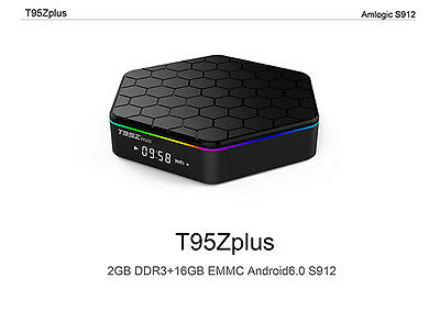 T95Z Plus S912 2GB+16GB Octa Core Android 6.0 TV Box KODI 2.4/5Ghz Dual WIFI