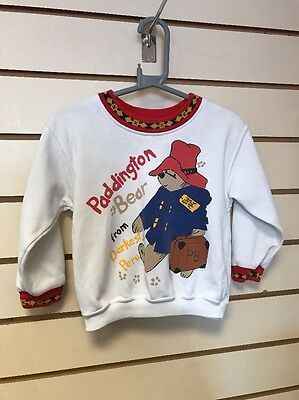 Boys Girls Unisex Vintage Paddington Bear Mothercare Jumper 2-3 Years