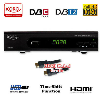 HD Kabel Receiver Xoro Digital HRK 7560 DVB-C USB TV Aufnahme PVR Mediaplayer