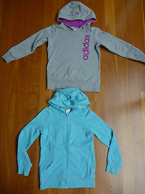 2 Adidas Hooded Jumpers Size 9-10
