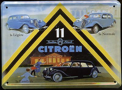 "Citroen "" Traction "" Plaque Metal Reedition      ( Plaque Emaillee )"