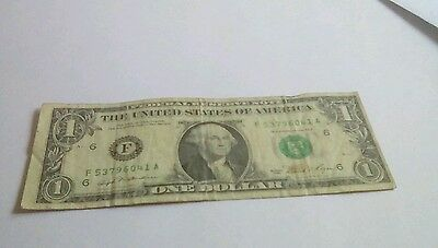 The United States Of America One Dollar Note
