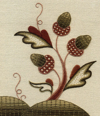 """Crewelwork Embroidery Kit, """"The Merry Monarch"""" By Melbury Hill"""