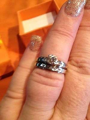 14Ct White Gold Diamond Engagement And Wedding Ring Set