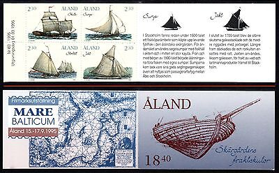 ALAND 1995 Freight Ships: Block of 4 Stamps (ex booklet) UM/MNH