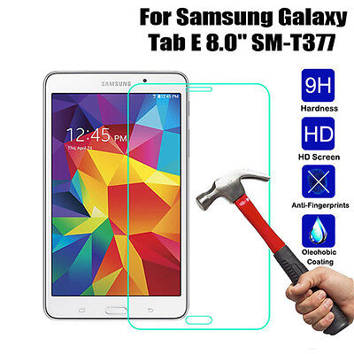9H Real Tempered Glass Film Screen Protector Film For Samsung Tab E T377 8.0""
