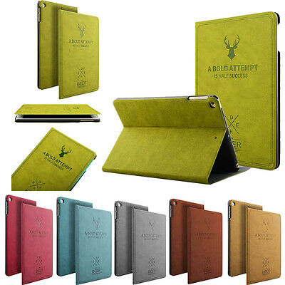 Magnetic Leather Folio iPad Case Cover Stand For iPad Pro/ iPad 4/Air 2/mini 4 3