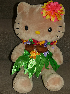 Build A Bear Hello Kitty Hawaiian Plush Doll & Outfit  LIKE NEW Been On Dispay!