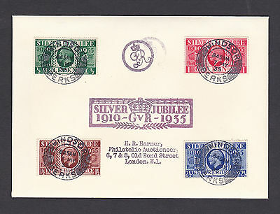 1935 Silver Jubilee: 'WINDSOR' FDC: Very Rare: FORGERY