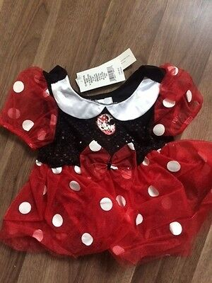 Disney Store Minnie Mouse Costume Dress 6 - 12 months Vintage with Tags, NEW