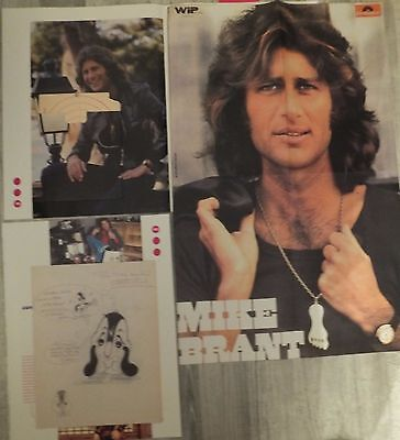 poster 1 page  mike brant +dessin  -