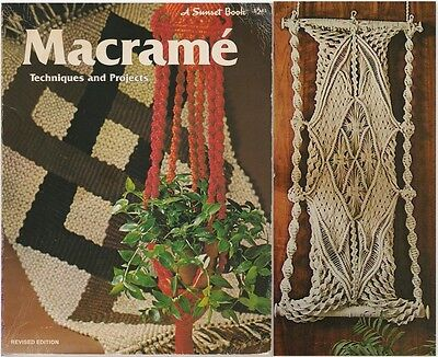 "Vintage 1977 Macrame Pattern Book ""macrame Techniques & Projects"" 20 Projects"