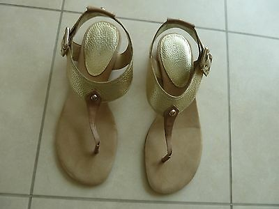 Nine West gold leather sandals Size US 9/EUR 40 New with box!