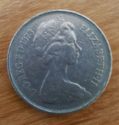 1973 Elizabeth II Ten New Pence 10p Old Large type Coin circulated