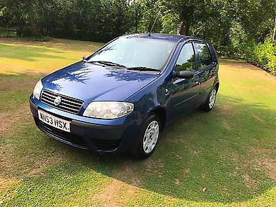 2003/53 Fiat Punto 1.2 8v Active Petrol 5 Door hatch Blue