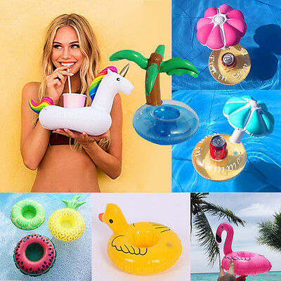 Mini Swim Floats Can Cup Holder Inflatable Cup Holder Pool Beverage Drink Holder